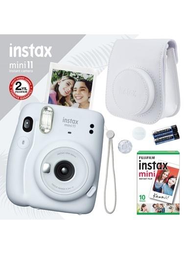 Fujifilm instax mini 11 Beyaz Fotoğraf Makinesi ve Hediye Seti 3 Beyaz